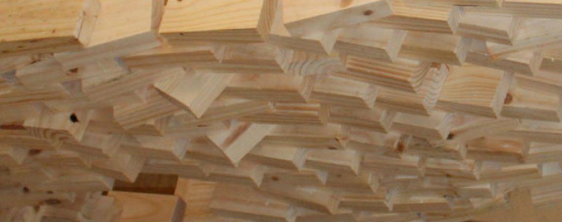 Kuka wood brick wall, procesos de fabricación en la industria año 2016